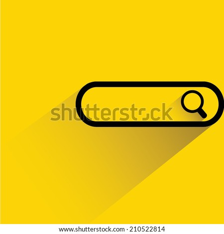 search bar, flat and shadow theme design - stock vector