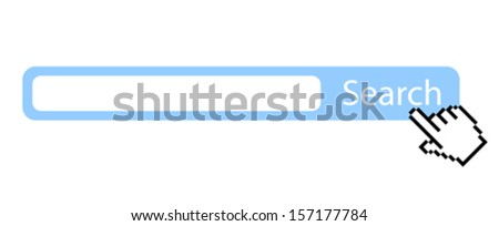 Search bar illustration - stock vector