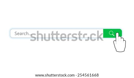 Search bar with mouse pointer - stock vector