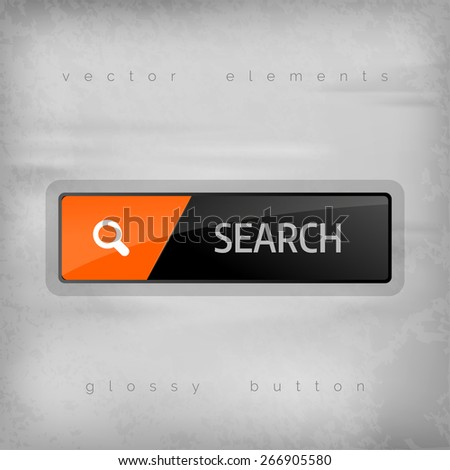 Search button. Vector design element. - stock vector