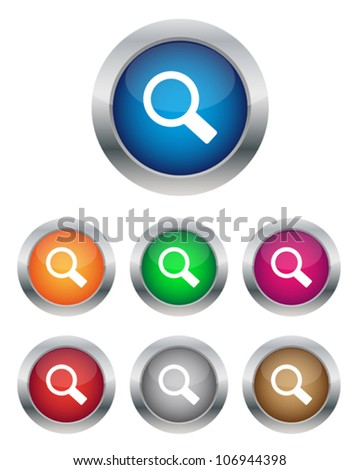 Search buttons - stock vector