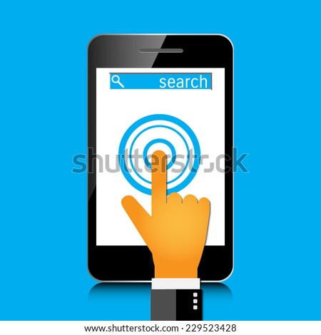 Search concept. Eps 10 illustration. - stock vector