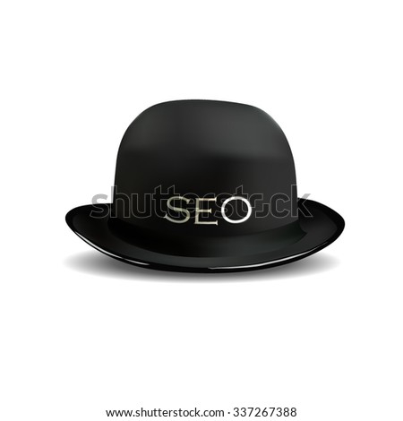Search Engine Optimization for web SEO Black Hat - stock vector