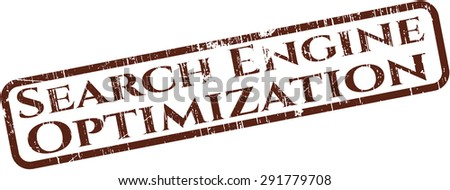 Search Engine Optimization rubber stamp - stock vector
