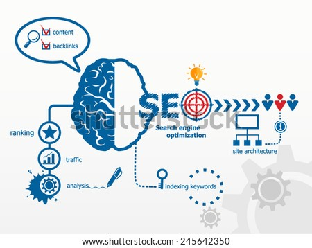Search engine optimization. SEO Internet concept - stock vector