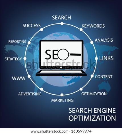 search engine optimization. vector Illustration. - stock vector