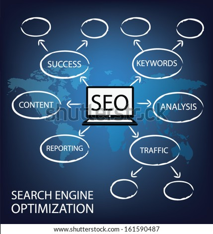 search engine optimization. vector Illustration.