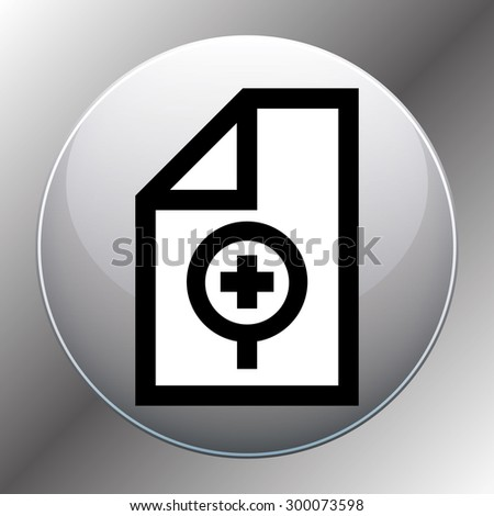 search file or folder - stock vector