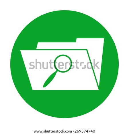 Search Folder Icon - stock vector