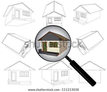 search for home - stock vector