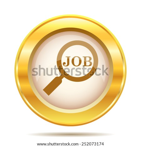 Search for job icon. Internet button on white background. EPS10 vector.  - stock vector