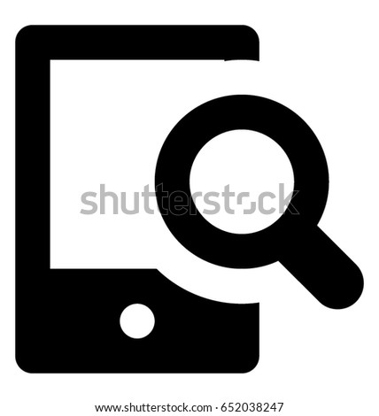 Search Glyph Vector Icon