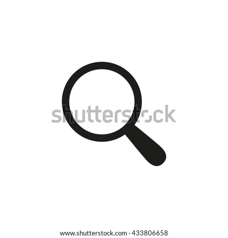 Search icon, Magnifying glass and Searching Looking For Research Information Vector icon - stock vector