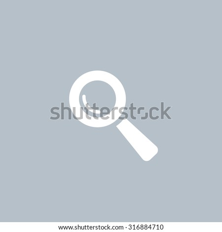 Search icon, vector illustration. Flat design style - stock vector