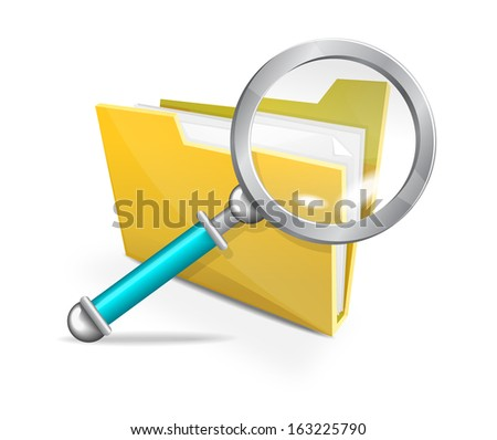 Search - Illustration - stock vector