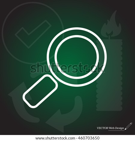 Search line Icon. Vector