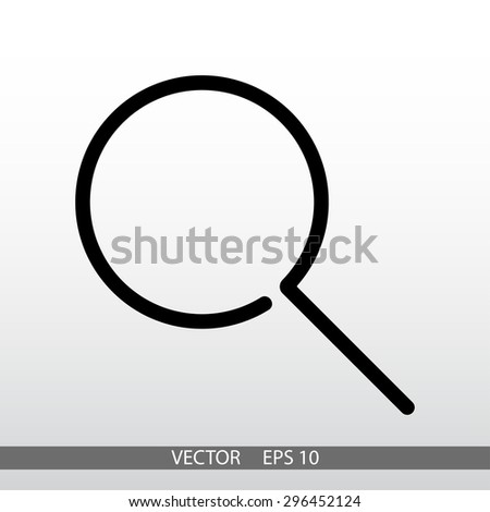Search, linear icon. One of a set of linear web icons