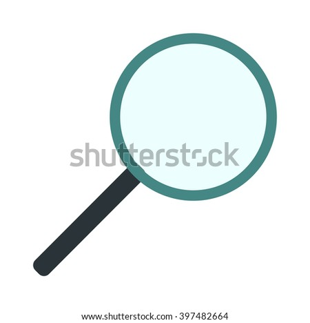 Search loupe zoom look, optic optimization loupe tool object. Loupe magnifying lens and loupe research zoom glass. Magnification loupe exploration. Magnifying glass flat loupe icon vector illustration - stock vector