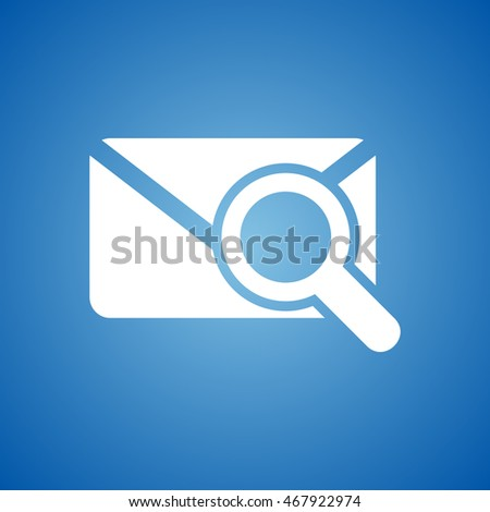 Search Mail Icon on blue color.
