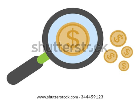 Search money business concept