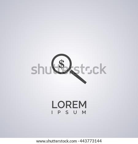 search money icon. search money logo - stock vector