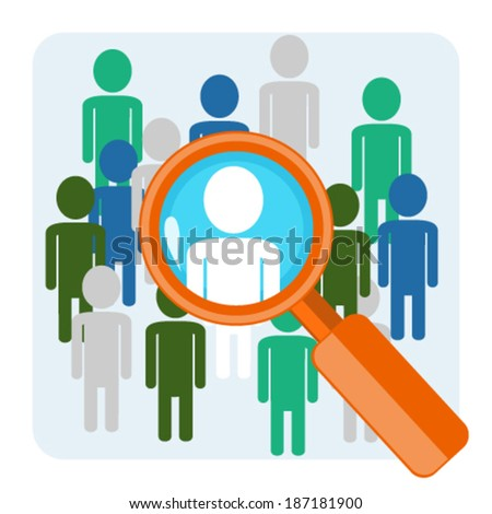 Search of person - stock vector