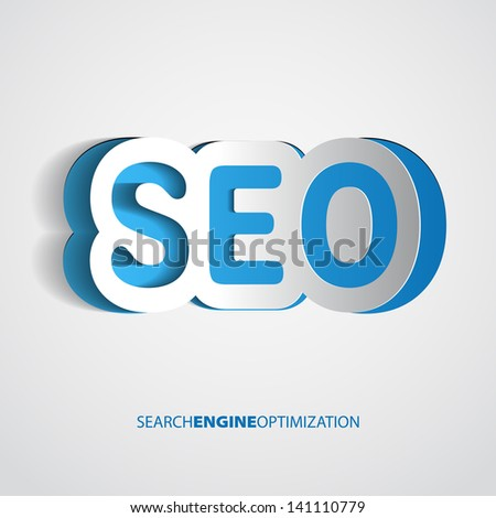 Search optimization concept sign in paper style - vector