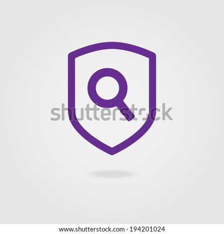 Search shield icon.