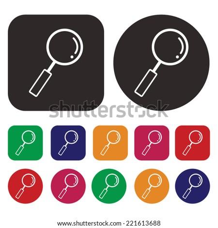 Search vector icon - stock vector