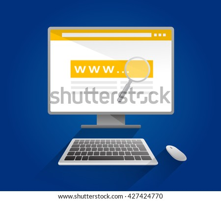 Search. Web searching engine. EPS10. Isolated objects. - stock vector