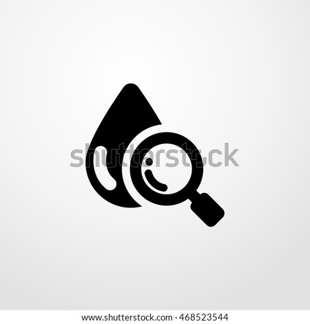 searching blood icon. Flat design