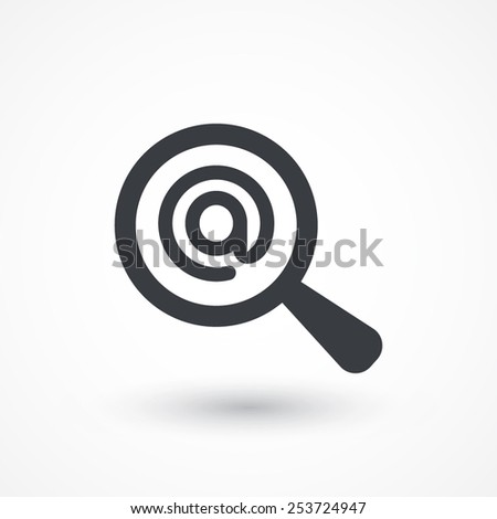 Searching Email icon. Flat icon