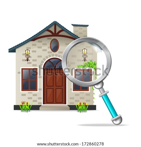 searching for house - Illustration - stock vector
