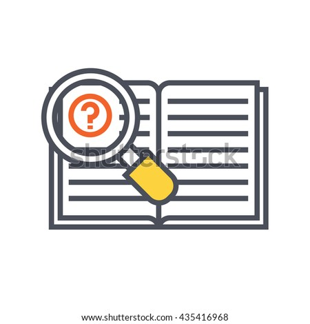 searching for knowledge concept, hint, tips - stock vector