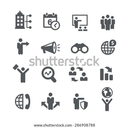 Searching Opportunities // Business Strategies - stock vector