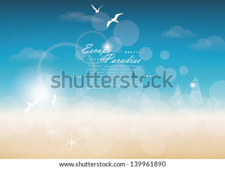 Seascape backgrounds. Vector Illustration. - stock vector