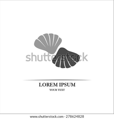 seashell - stock vector