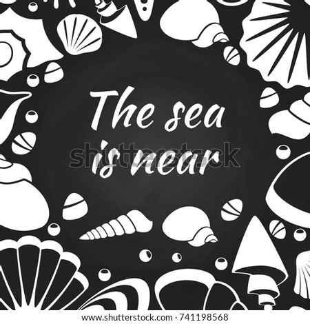 Sea shell vector silhouette icons sea stock vector for Thin line tattoo artists near me