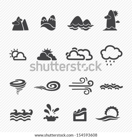 season icons isolated on white background - stock vector