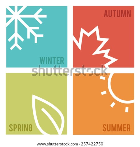 Season icons.Vector illustration. - stock vector