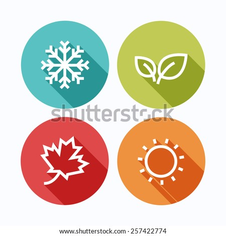seasons icons stock images royaltyfree images amp vectors