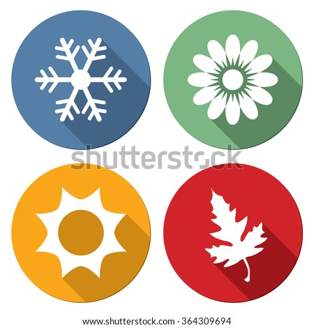 Season icons vector illustration. - stock vector