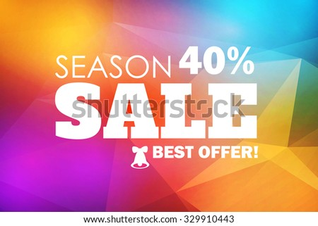 Season Sale. Colorful Banner. Christmas Design. Vector illustration