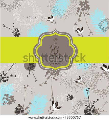 season seamless floral background- best for card design- wedding invitation card - stock vector