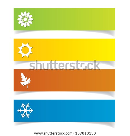Season symbols set. - stock vector