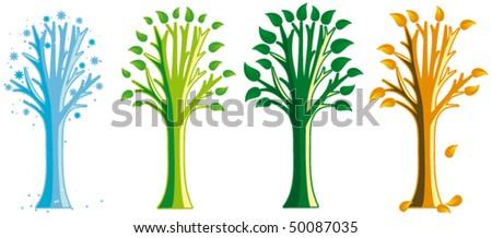 Season tree - stock vector