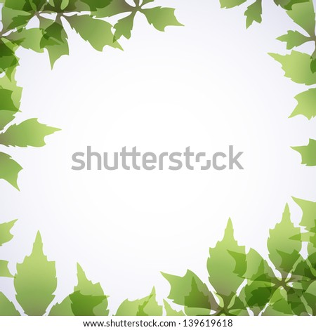 Seasonal background with vine leaves. - stock vector