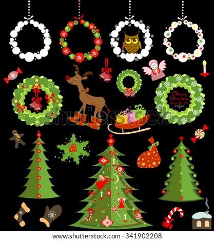 Seasonal greetings for winter holidays - stock vector