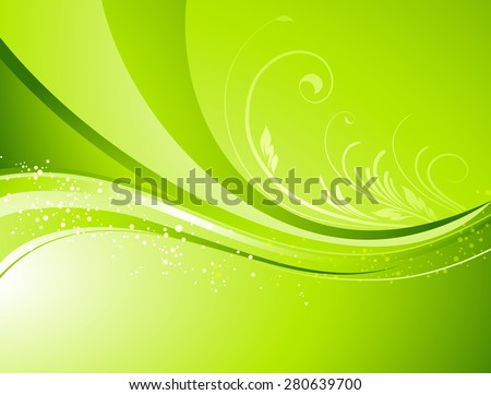 Seasonal  nature abstract background. Eco background. Vector floral pattern. Green color. Spring, summer seasons - stock vector