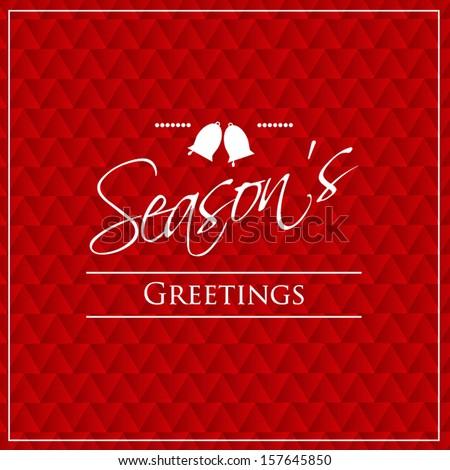 Seasons greetings  - stock vector